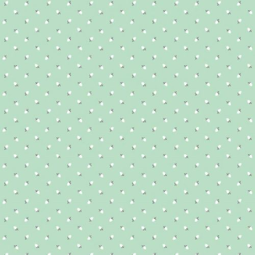 Riley Blake - Sew Charming Rosebuds (Mint) Fabric